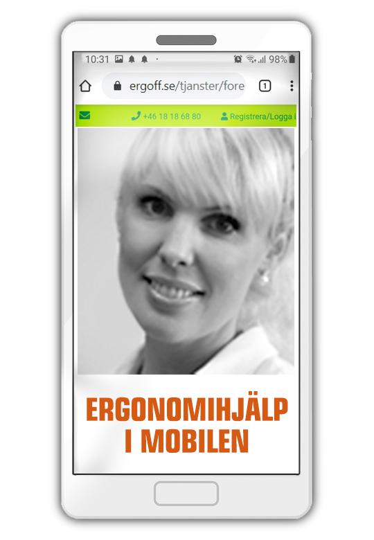 """Beställ """"Ergonomihjälp i mobilen"""""""
