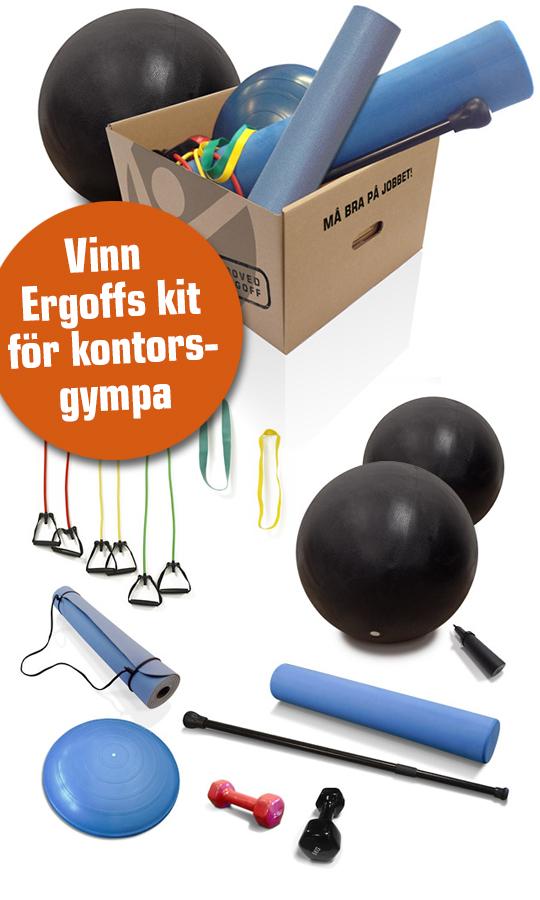 Vinn Ergoffs kit för kontorsgympa