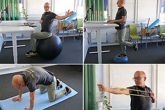 Träna på kontoret med Ergoffs träningskit