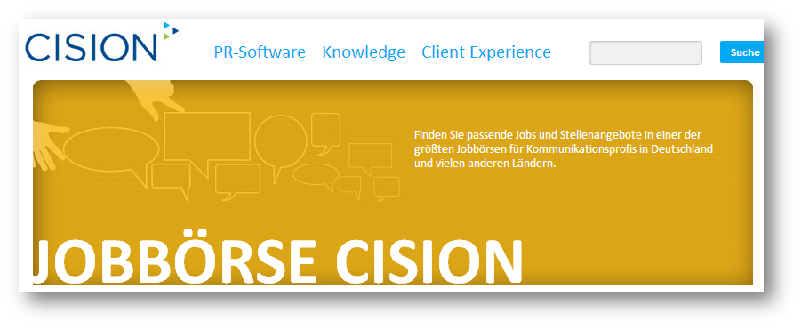 Cision Media Updates: Cisions Jobbörse für PR-Profis