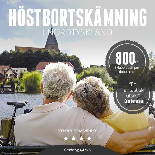 Medlemskampanj: 800:- i medlemsrabatt på hotell i Nordtyskland