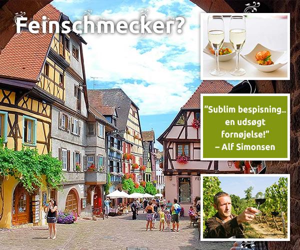 Vinruten i Alsace – for feinschmeckere