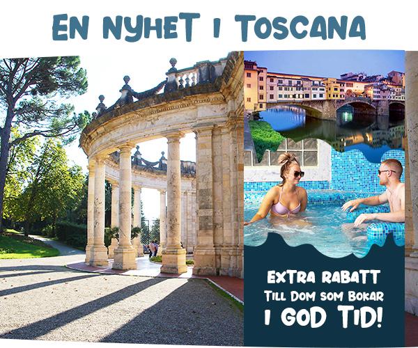 : Nyhet: Skönt cityhotell i Montecatini Terme för stora och små
