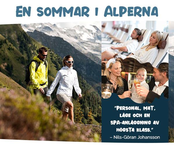 Familjens sommarsemester i Alperna