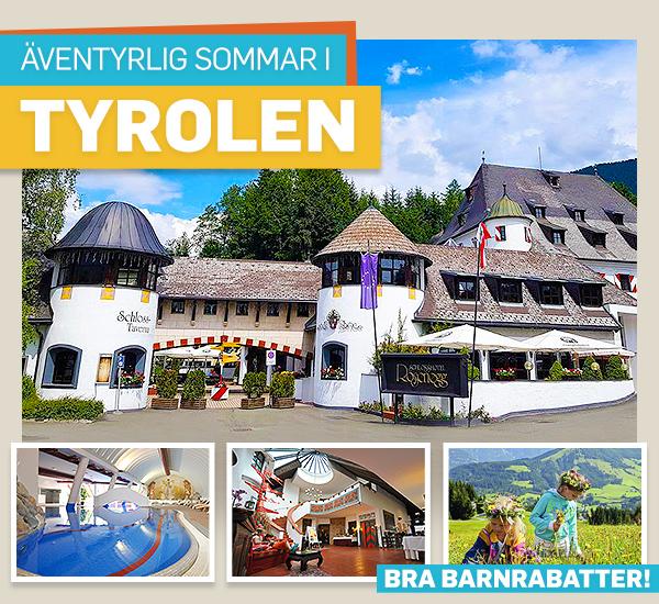 Familjesemester på slott i Tyrolen
