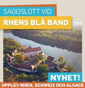Sagoslott vid Rhens blå band