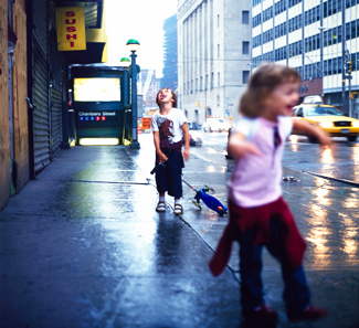 Children playing in street.