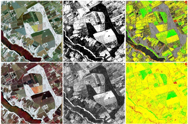 Change detection in polarimetric synthetic aperture radar (SAR) image data
