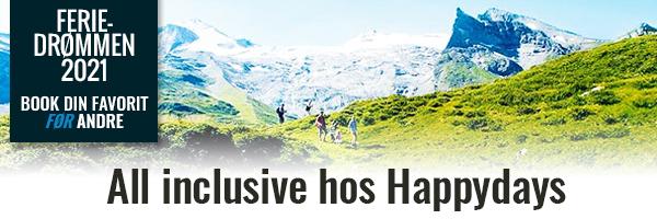 Se alle all inclusive ferier fra Happydays