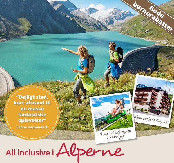 All inclusive i Alperne på Hotel Victoria Kaprun, Salzburgerland.