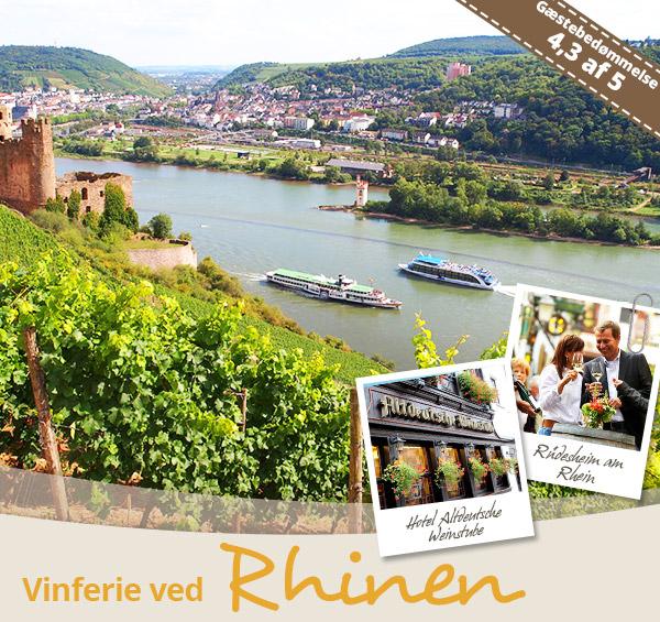 Vinferie ved Rhinen på Hotel Altdeutsche Weinstube i Rüdesheim.