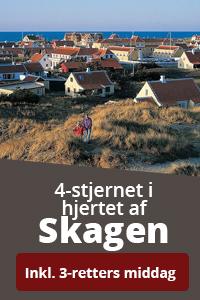 Book en miniferie på 4-stjernede Skagen Hotel i Danmark.