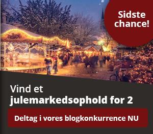 Sidste chance: Vind et julemarkedsophold for to i vores blogkonkurrence.