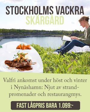 Fast lågpris på hotell i Stockholms skärgård
