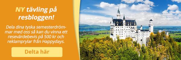 Ny bloggtävling: Dela dina tyska semesterdrömmar och vinn
