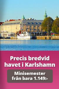 Boka en minisemester på hotell i Karlshamn, Blekinge skärgård