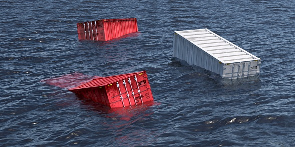 Containers lost at sea