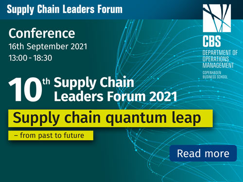 10th Supply Chain Leaders Forum 2021 - Supply chain quantum leap